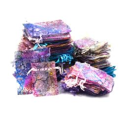 50st Multicolor Coralline Organza Bröllopsfest Gynnar Present Je 0 7*9cm