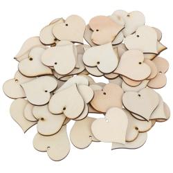 50st trä hjärta patch Hantverk Scrapbooking leveranser handgjorda