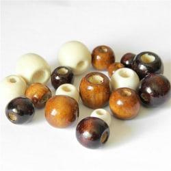 50st / parti stora hål träpärlor handgjorda pärlor DIY smycken B B5