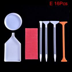5D Diamantmålningsverktyg Tillbehör Kit Hantverk DIY Diamond M E 16Pcs