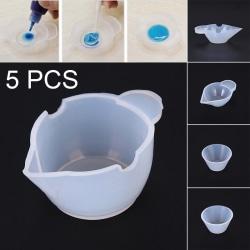 5st Silikonform Cup Dispenser Epoxiharts för smyckentillverkning D