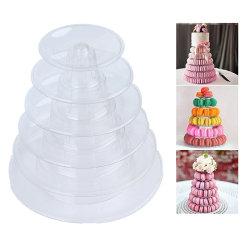 6-tiers Macaron Display Stand Cupcake Tower Rack Stand Bricka för one size