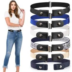 Buckle Free Belt For Jean Pants Dresses No Buckle Stretch Elast 3