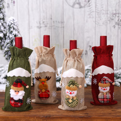 Christmas Wine Bottle Cover Snowman Santa Claus Elk Wine Bags X