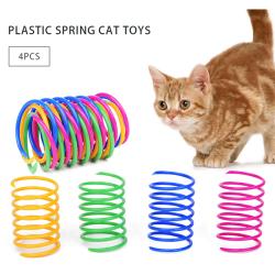 Färgglada kattfjäderleksaker Plastfjädrar Kattlekar för katt ONE SIZE