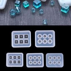 Kristall geometriska smycken mögel hängande silikon ornament harts