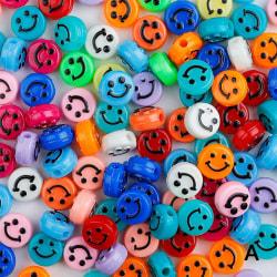 500st Akryl Smiley Face Pärlor För DIY Armband Smycken Makin A 50pcs random