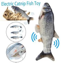 Elektronisk husdjurskattleksak Elektrisk USB-laddningssimuleringsfisk till A