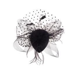 Elegant Lady Top Net Mesh Birdcage Feather Fascinator Hairpin H 0 0