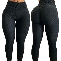 Mode Hög midja Fitness Leggings Kvinnor träning Push Up byxa M