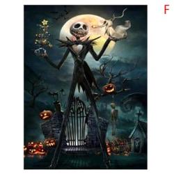 Halloween 5D Diamantmålningssatser med full borr Cross Craft Stitc F