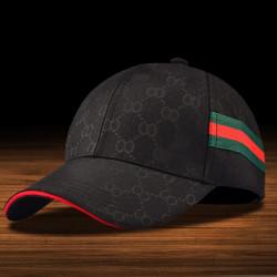 Heta mode GG enkla män Kvinnor Baseball Cap Checker Peaked Cap Black