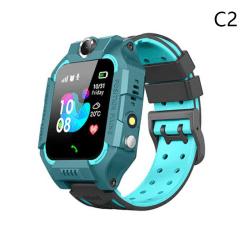 Kids Smart Call Watch Vattentät GPS-plats SOS LED Flashli Blue C2