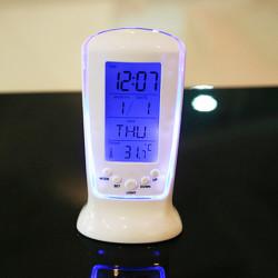 LED Digital väckarklocka Nattlampa Elektronisk kalender Thermom