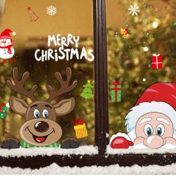 Merry Christmas Wall Window Glass Stickers Dekaler Santa Murals
