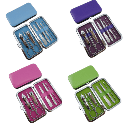 Nail Cuticle Clippers Cleaner Manicure Case Tool Grooming Kit P