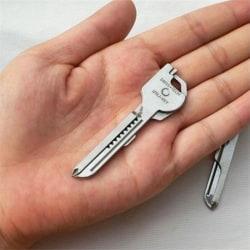 Ny Utili-nyckel 6 i 1 nyckelring EDC Multi-Tool Sc Silver