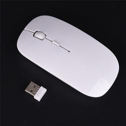 Ny trådlös mus USB optisk rullmöss för Tablet Laptop Co. White 12cm*5.5cm*2cm