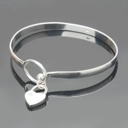 Nya kvinnor 925 silverpläterade charm persika hjärta armband C