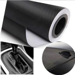 Perfekt 3D kolfiber svart vinylfilm Auto bilark Wrap Ro