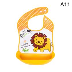säkerhetstecknad utskrift baby haklappar pojke flickor haklapp silikon barn A11