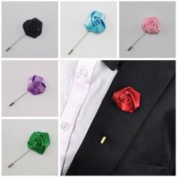 Silk Rose Flowers Corsage Grooms Bästa män Boutonniere pin Weddi Wine red 0