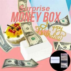 Surprise Birthday Cake Topper Sparbössa Cake-ATM Grattis på födelsedagen