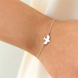 Tiny Peace Dove Armband Soar Flying Birds Armband Söt Swallo