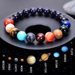 Universe Solar System Armband Natursten Åtta planeter Bang