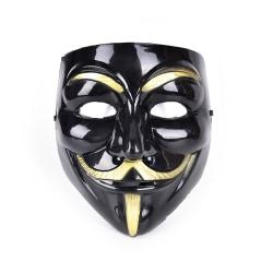 V för Vendetta Mask Anonym Guy Fawkes Fancy Dress Fancy Cost Black+Golden