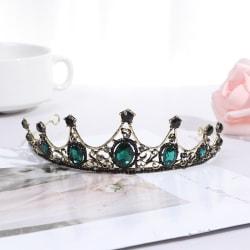 Vintage barock imiterade Emerald Crystal Tiaras och Crowns Brid