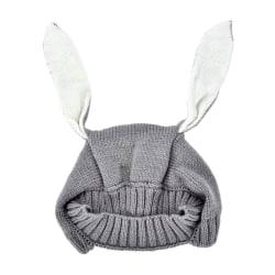 Vinter söt baby kaninöron stickad hatt Småbarn Ullmössa för barn