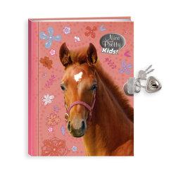 Dagbok med hänglås - Hästar