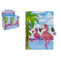 Dagbok med hänglås - Flamingo