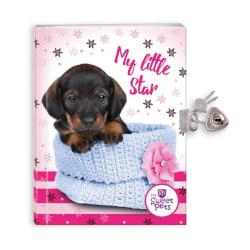 Dagbok med hänglås - Hundvalp