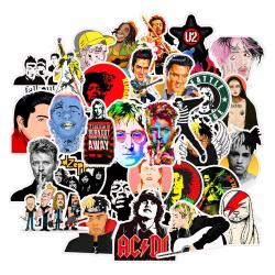 50st Pop Rock Legends Gadget Stickers Klistermärken Vinyl Återan multifärg