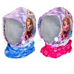 2-Pack Disney Frozen Frost Elsa Anna Balaclava Mössa/Scarf/Vinds multifärg one size