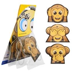 3-Pack Doftgran Till Bilen Luft Freshener Apa Emoticon Monkey Brun