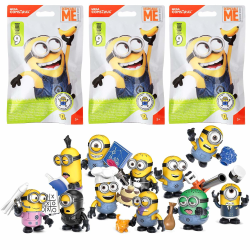 3-Pack Mega Construx Minions Dumma Mej Figure Blind Bag S9 multifärg