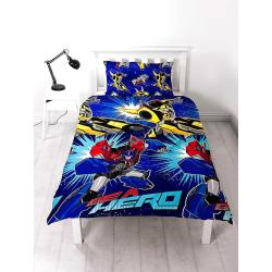 Transformers Hero Påslakanset Bäddset 135x200 + 48x74cm Blå