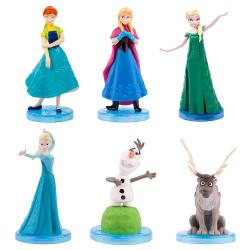 5-Pack Disney Frozen Frost Figurer 5-6cm  multifärg