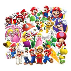 50st Super Mario Gadget Stickers Klistermärken Återanvändbara Vi multifärg