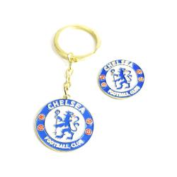 Chelsea Keychain Nyckelring + Badge multifärg