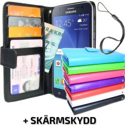 Samsung Galaxy J5 Plånboksfodral ID/Fotoficka + Skärmskydd Brun