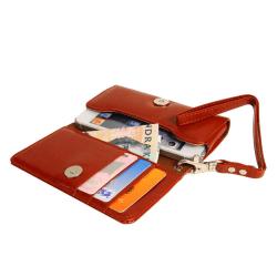 Plånboksfodral Handväska iPhone SE/5S/5/5C/4S + Handledsrem Brun