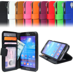 Plånboksfodral Väska Samsung Galaxy S4 Mini ID/foto ficka Fashio Svart