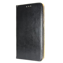 Äkta Läder Book Slim Huawei P Smart Z Plånboksfodral Svart Svart