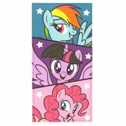 My Little Pony 3 Ponies Handduk Badlakan 140*70cm multifärg