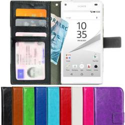 Plånboksfodral Sony Xperia Z5 Compact ID Ficka + Handlovsrem Svart
