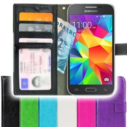 Samsung Galaxy Core Prime Plånboksfodral + Skärmskydd Svart